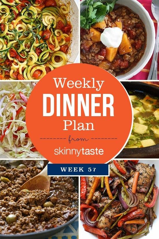 Skinnytaste Dinner Plan (Week 57)