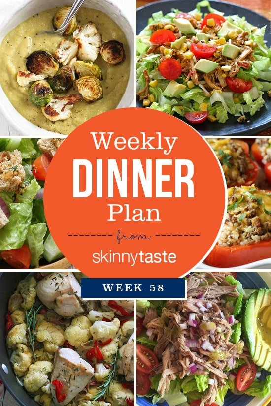 Skinnytaste Dinner Plan (Week 58)