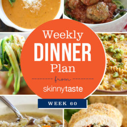 Skinnytaste Dinner Plan (Week 60)