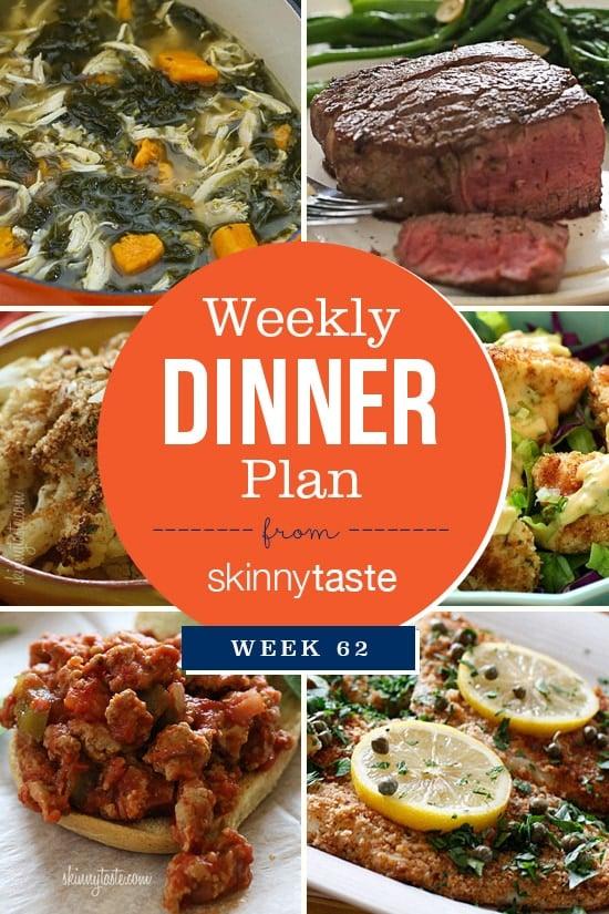 Skinnytaste Dinner Plan (Week 62)