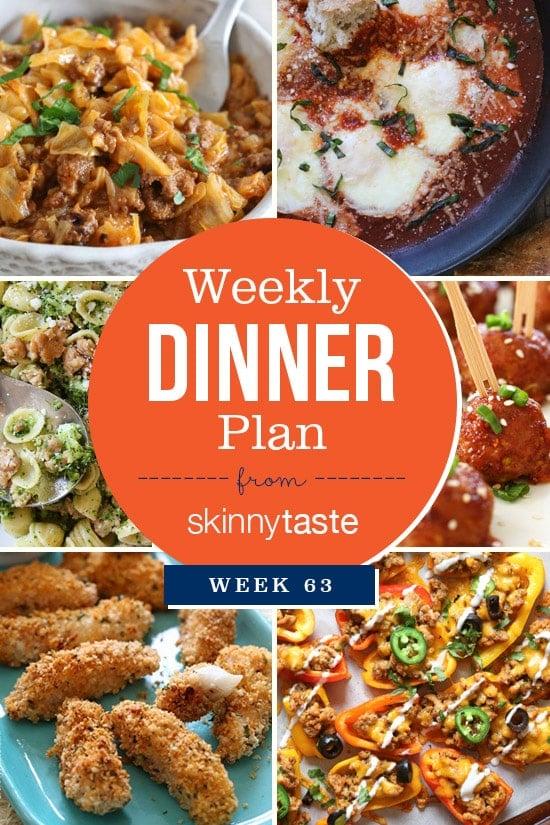Skinnytaste Dinner Plan (Week 63)
