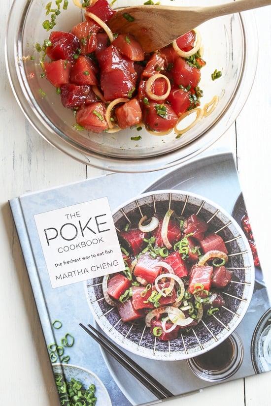 Shoyu Ahi Poke is the traditional Hawaiian dish of raw fish seasoned with soy sauce and sesame oil.