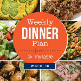 Skinnytaste Dinner Plan (Week 66)