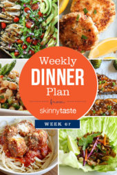 Skinnytaste Dinner Plan (Week 67)