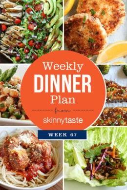Skinnytaste Dinner Plan (Week 67)