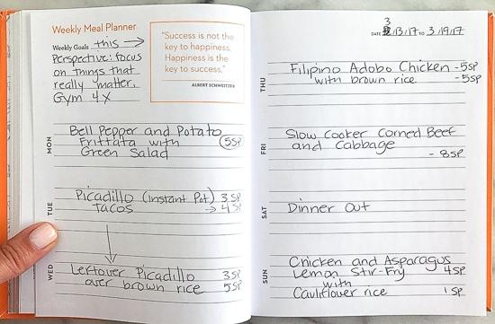 Skinnytaste Dinner Plan (Week 66)