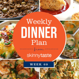 Skinnytaste Dinner Plan (Week 69)