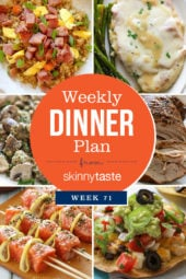 Skinnytaste Dinner Plan (Week 71)