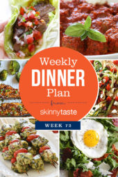 Skinnytaste Dinner Plan (Week 72)