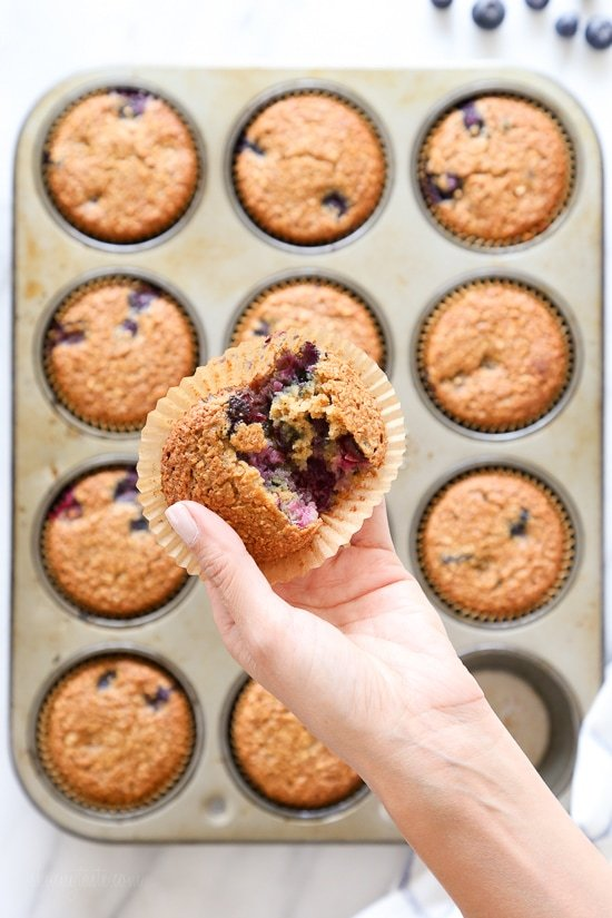 Gluten-Free, Dairy-Free, Blueberry Oatmeal Muffins are insanely good ...