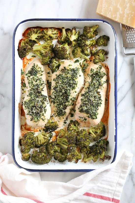 Parmesan-crusted Chicken With Broccoli