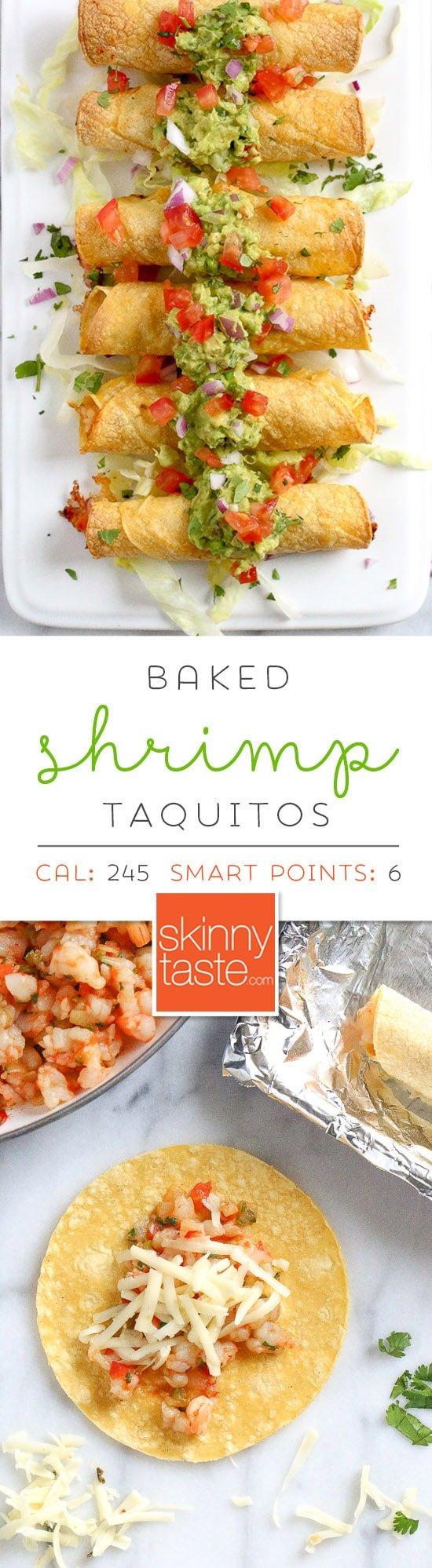 Baked Shrimp Taquitos