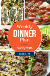 Skinnytaste Dinner Plan (Week 74)