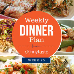 Skinnytaste Dinner Plan (Week 75)