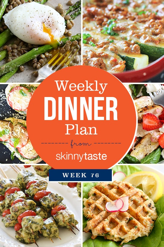 Skinnytaste Dinner Plan (Week 76)