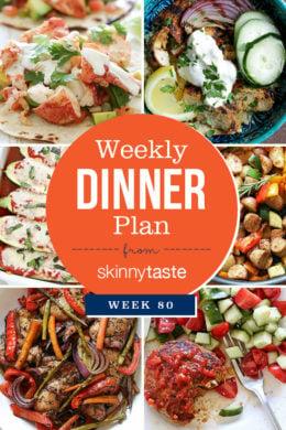 Skinnytaste Dinner Plan (Week 80)