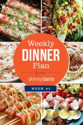 Skinnytaste Dinner Plan (Week 82)