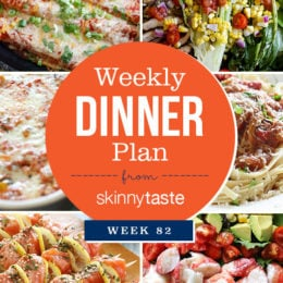 Skinnytaste Dinner Plan (Week 82)