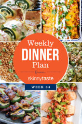 Skinnytaste Dinner Plan (Week 84)