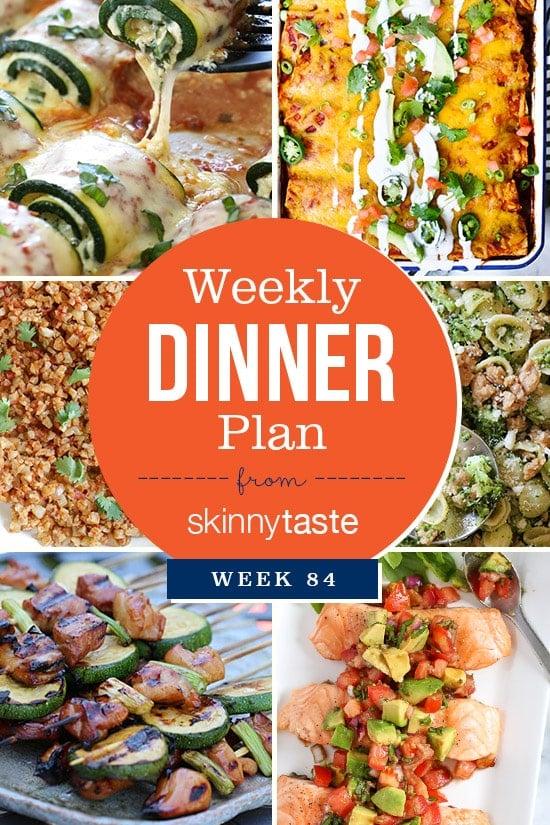 Skinnytaste Dinner Plan (Week 84)