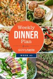 Skinnytaste Dinner Plan (Week 85)