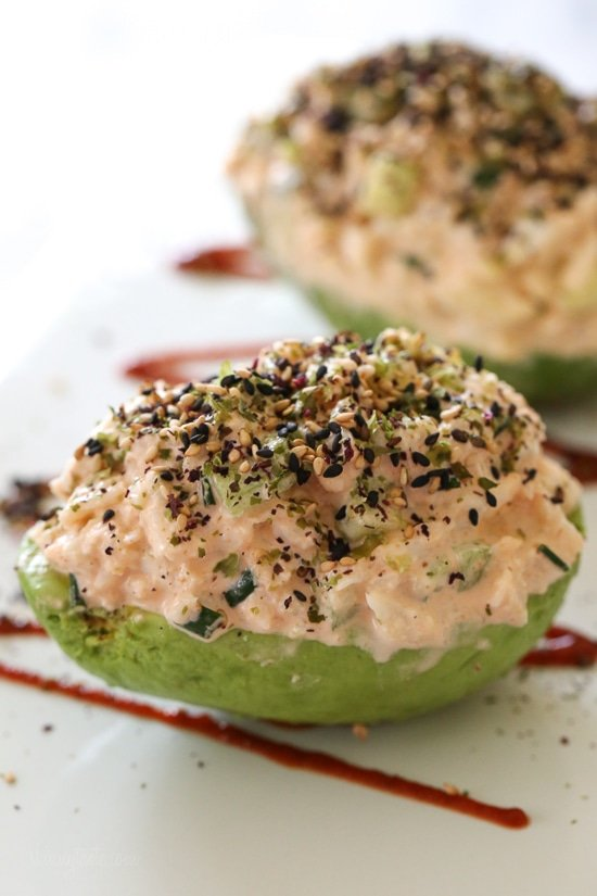California Spicy Crab Stuffed Avocado
