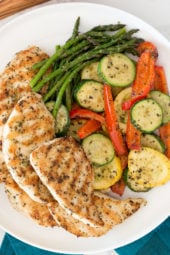This Garlic and Herb Grilled Chicken and Veggie recipe checks off all the boxes – quick, easy, delicious and low-carb!