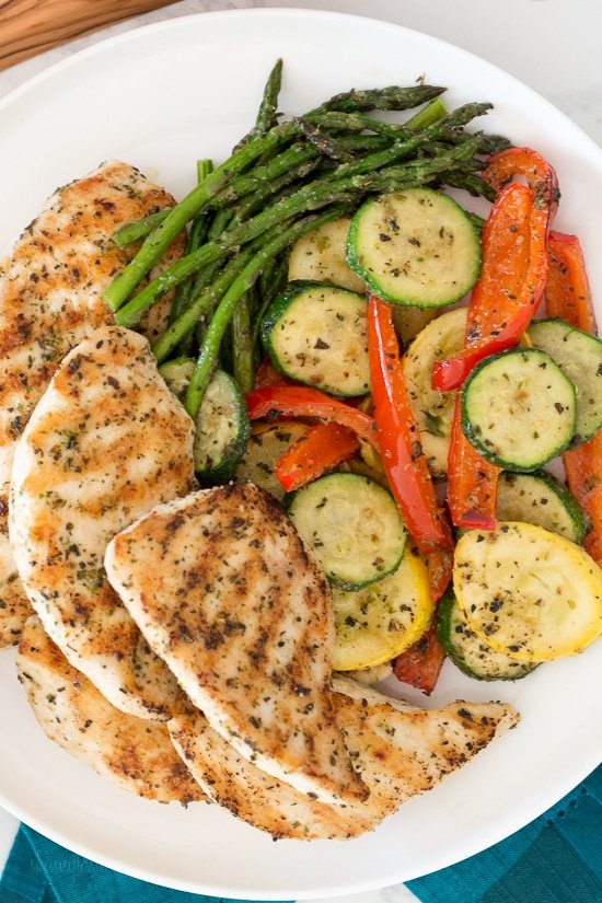 Grilled Garlic And Herb Chicken And Veggies Skinnytaste