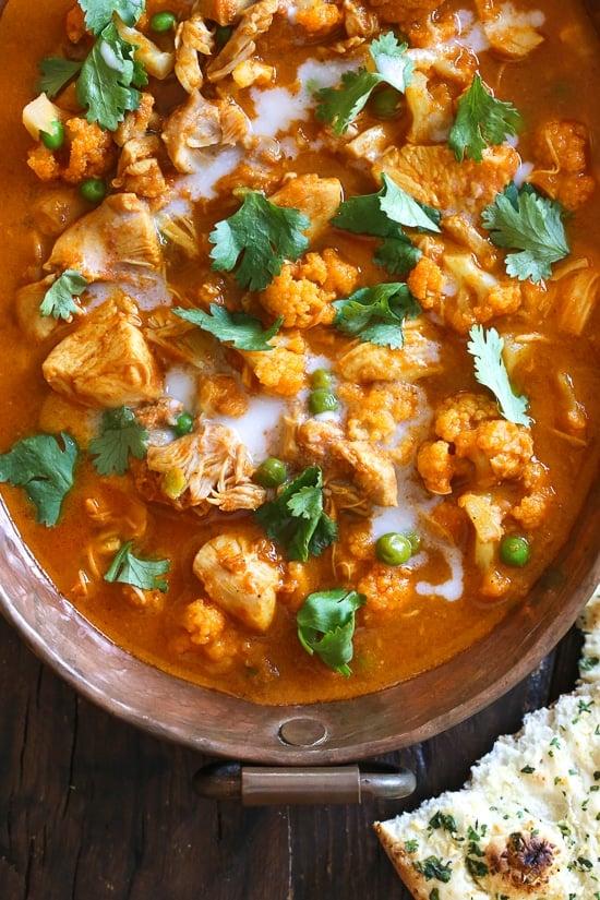 Instant Pot Chicken Tikka Masala with Cauliflower and Peas