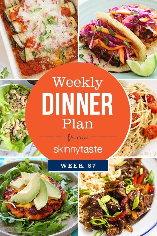 Skinnytaste Dinner Plan (Week 87)