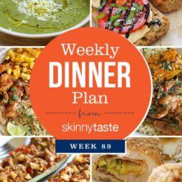 Skinnytaste Dinner Plan (Week 89)