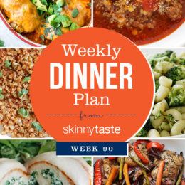 Skinnytaste Dinner Plan (Week 90)