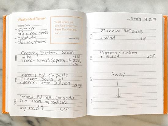 skinnytaste dinner plan week 89