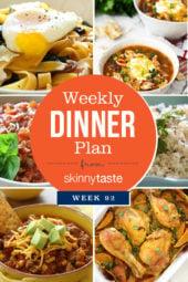 Skinnytaste Dinner Plan (Week 92)