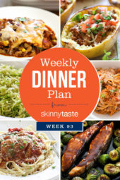 Skinnytaste Dinner Plan (Week 93)
