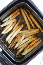 Crispy french fries made in the air-fryer, with just a small amount of oil!