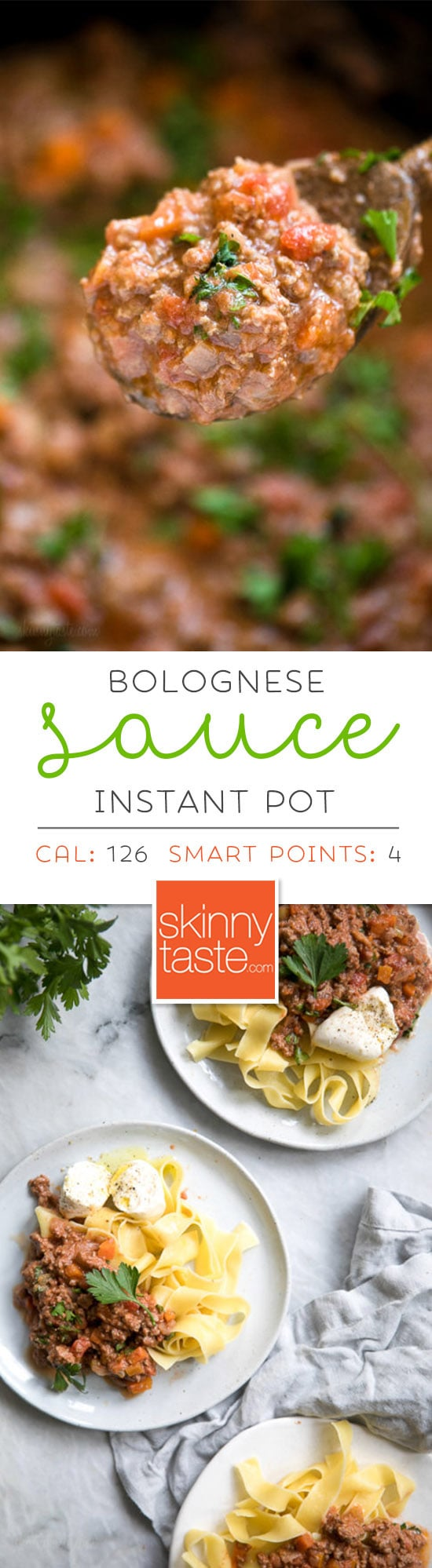 This is the best Bolognese sauce recipe, a staple in my home. It's so easy to make, I always make a big batch for dinner and freeze the rest to use throughout the month – a huge time saver! Making it in the pressure cooker makes this Sunday sauce a dish you can whip up any night of the week! #bolognese #instantpotbolognese #instantpot
