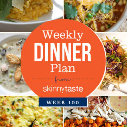 Skinnytaste Dinner Plan (Week 100)