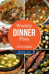 Skinnytaste Dinner Plan (Week 101)