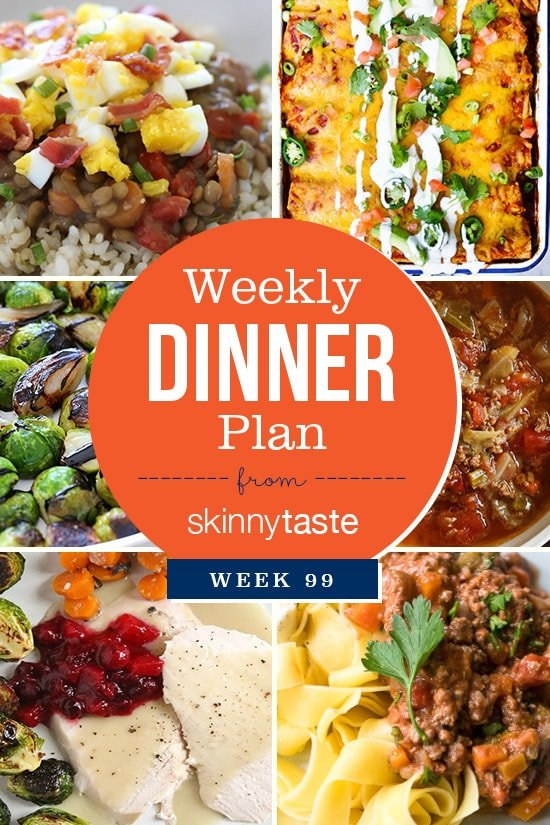 Skinnytaste Dinner Plan (Week 99)
