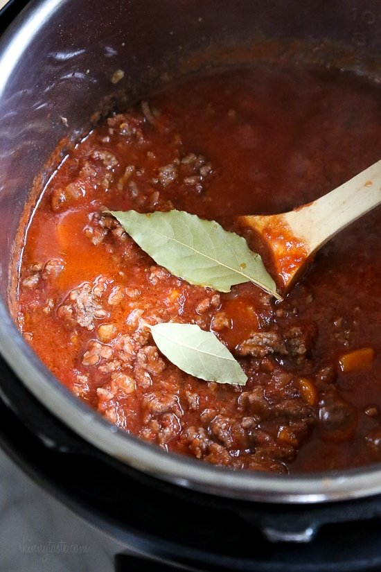 This is the best Bolognese sauce recipe, a staple in my home. It's so easy to make, I always make a big batch for dinner and freeze the rest to use throughout the month – a huge time saver! Making it in the pressure cooker makes this Sunday sauce a dish you can whip up any night of the week!
