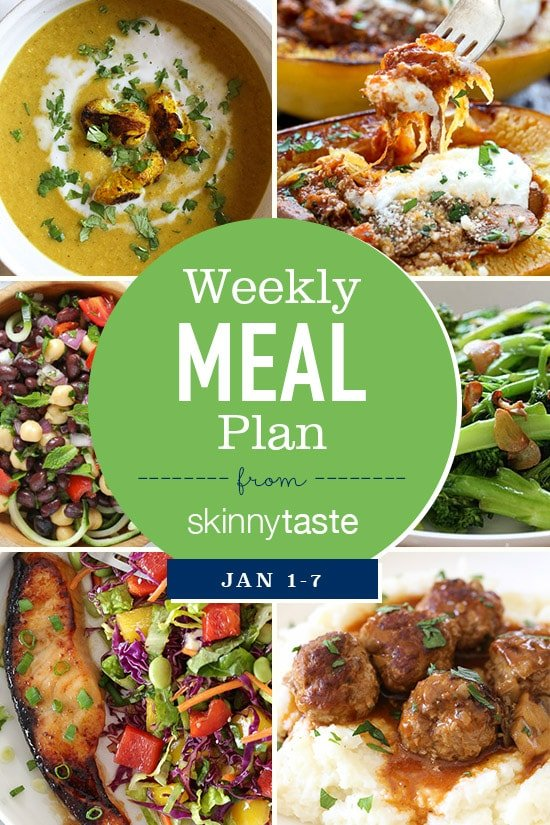 Skinnytaste Meal Plan January 1 - 7