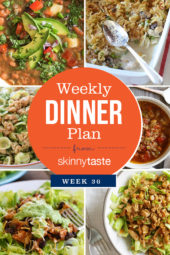Skinnytaste Dinner Plan (Week 102)