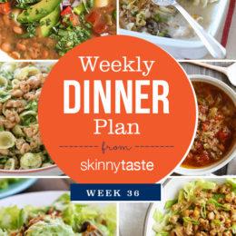 Skinnytaste Dinner Plan (Week 102)