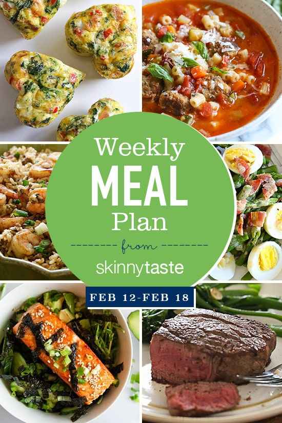 Skinnytaste meal plan february 12 february 18 skinnytaste a free 7 day flexible meal plan including breakfast lunch and dinner and a forumfinder Gallery