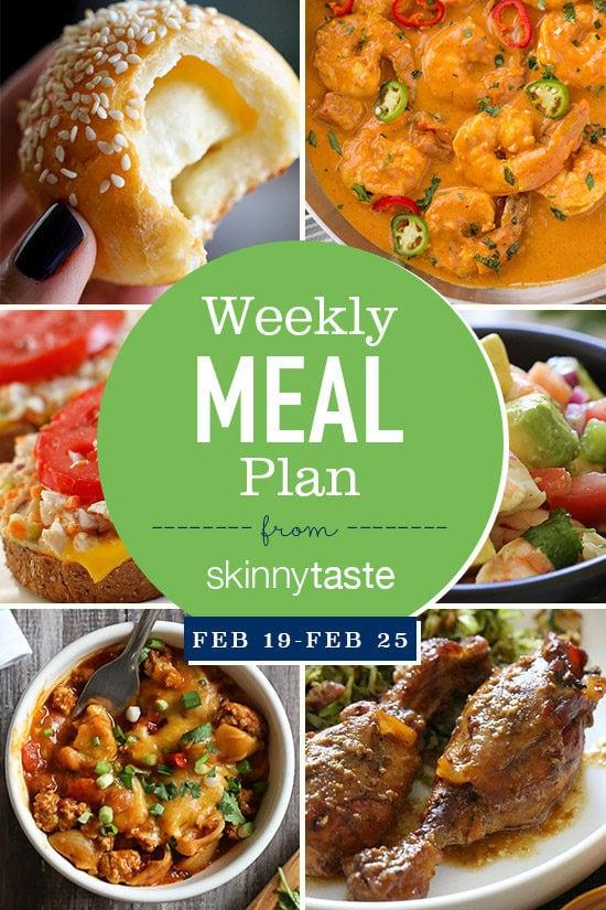 Skinnytaste Meal Plan February 19 February 25 Skinnytaste