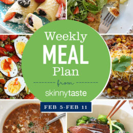 A free 7-day flexible meal plan including breakfast, lunch and dinner and a shopping list. All recipes include calories and Weight Watchers Freestyle Smart Points.