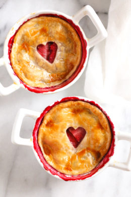 These individual Mixed Berry Pies are perfect for portion control. Easy to make, filled with mixed berries and topped with refrigerated pie crust.