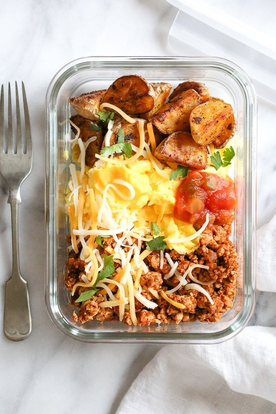 Meal Prep Breakfast Taco Scramble