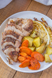 Leave the same old Corned Beef behind for this Corned Turkey and Cabbage Dinner made with all the same pickling spices and roasted vegetables.